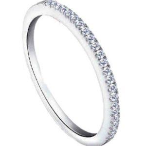Jewelry - Simple silver diamond band (CZ)